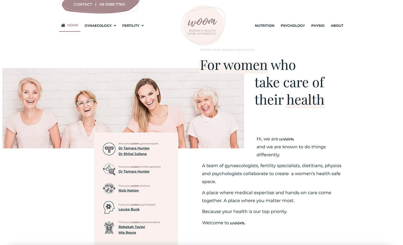 WOOM Gynaecology, Fertility, Dietetics
